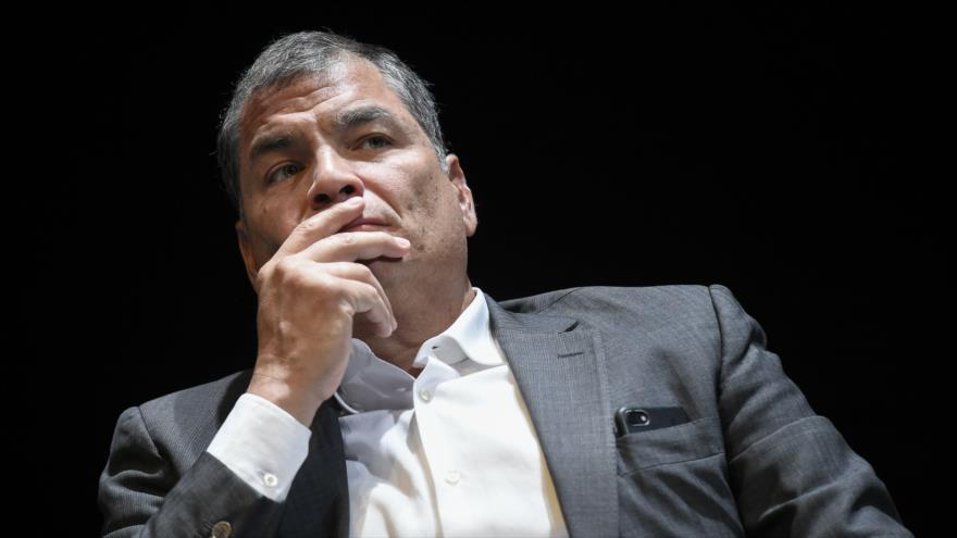 Rafael Correa comenta su inhabilitación como candidatura en Ecuador