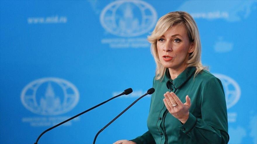 La portavoz del Ministerio de Relaciones Exteriores de Rusia, María Zajárova.