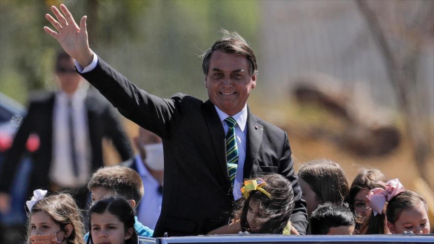 El presidente de Brasil, Jair Bolsonaro, en el Día de la Independencia del país, Brasilia, 7 de septiembre de 2020. (Foto: AFP)