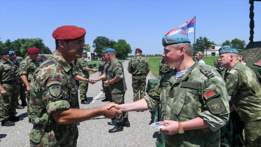 Bielorrusia, Rusia y Serbia desafían a OTAN con maniobras conjuntas | HISPANTV