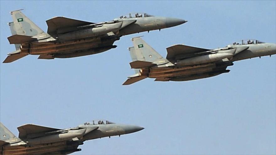 Tres aviones de guerra saudíes.