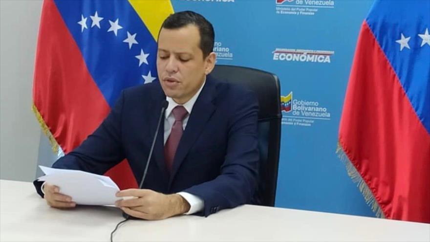 El ministro de Economía y Finanzas venezolano, Simón Zerpa, en Caracas, capital venezolana, 8 de septiembre de 2020.