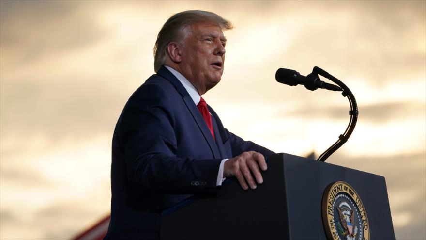 El presidente de EE.UU., Donald Trump, durante un mitin en el Aeropuerto Regional Smith-Reynolds, Carolina del Norte, 8 de septiembre de 2020. (Foto: AFP)