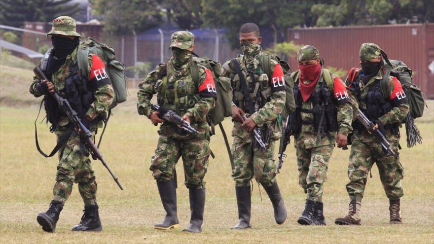 Integrantes de la guerrilla del Ejército de Liberación Nacional (ELN) de Colombia.
