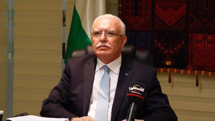 Canciller palestino pide a Estados árabes rechazar pacto EAU-Israel | HISPANTV
