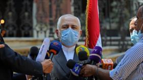 """Zarif urge el rechazo de Europa al """"terrorismo económico"""" de EEUU"""