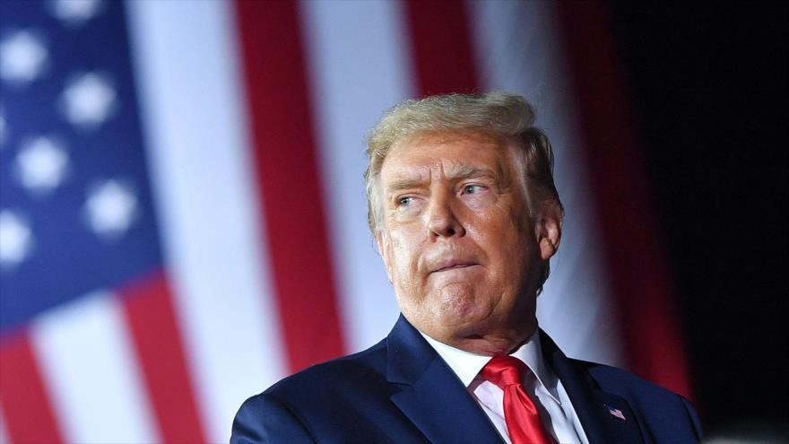 El presidente de EE.UU., Donald Trump, en un mitin electoral en Michigan, 10 de septiembre de 2020. (Foto: AFP)