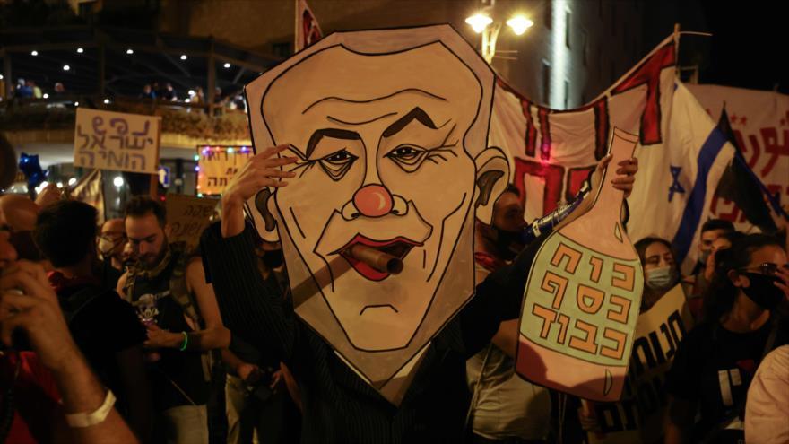 Manifestantes israelíes planean bloquear 'huida' de Netanyahu a EEUU | HISPANTV