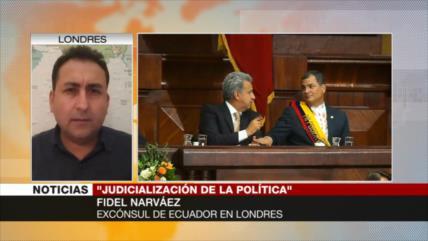 Narváez: Poder Judicial de Ecuador está politizado contra Correa