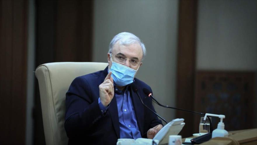 El ministro de Salud de Irán,Said Namaki, en una reunión en Teherán, la capital.