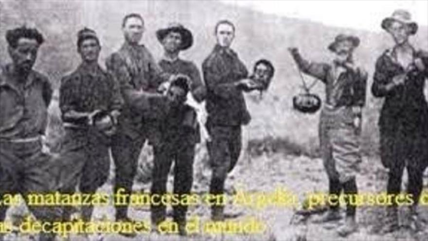 Las matanzas francesas en Argelia.
