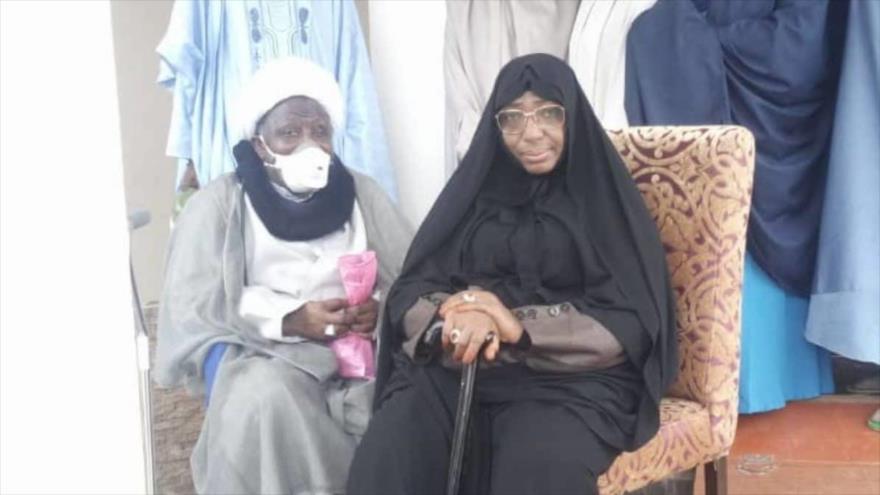 El sheij Ibrahim al-Zakzaky y su esposa, Malama Zinat Ibrahim.