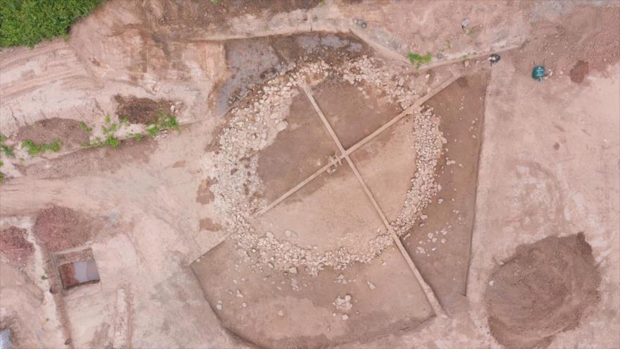 Tumbas de forma circular de hace 4000 años halladas en el sur de Francia. (Foto: INRAP)