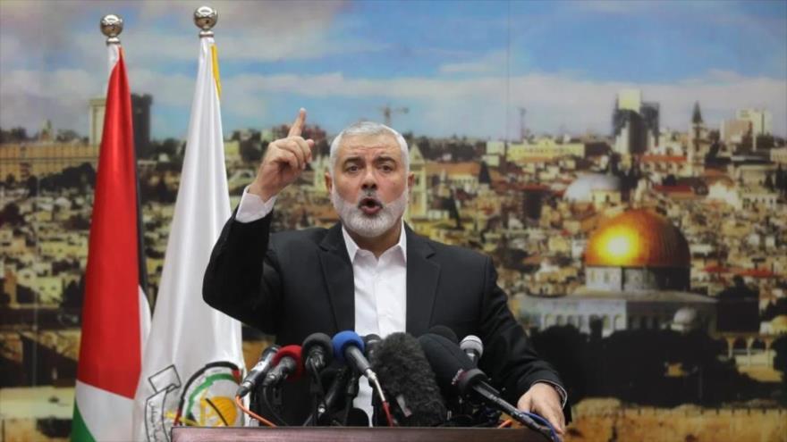 El jefe de la dirección política del Movimiento de Resistencia Islámica de Palestina (HAMAS), Ismail Haniya.