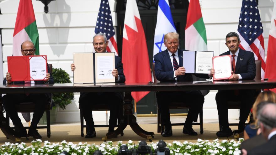 Emiratos y Baréin firman en EEUU polémicos pactos con Israel