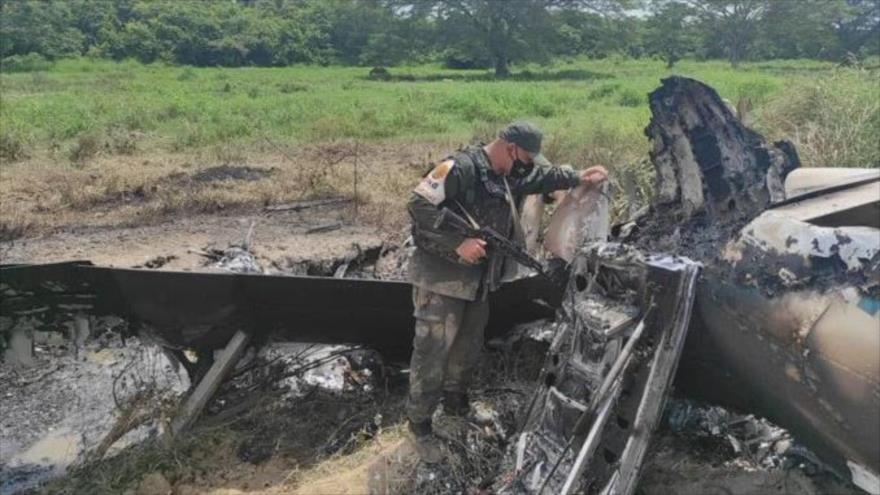 La aeronave norteamericana inutilizada por la Fuerza Armada Nacional Bolivariana (FANB).