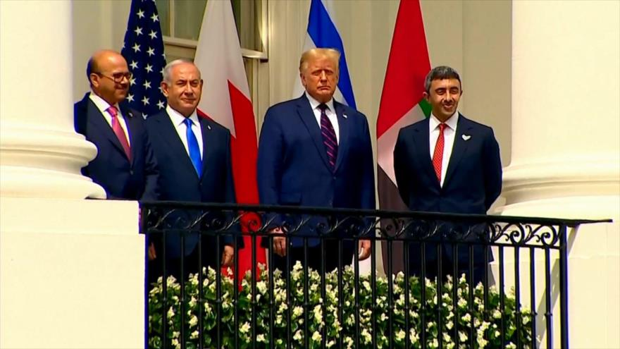 Lazos EAU-Baréin-Israel. Polémico Trump-Asad. Protesta en Honduras - Boletín: 01:30 - 16/09/2020