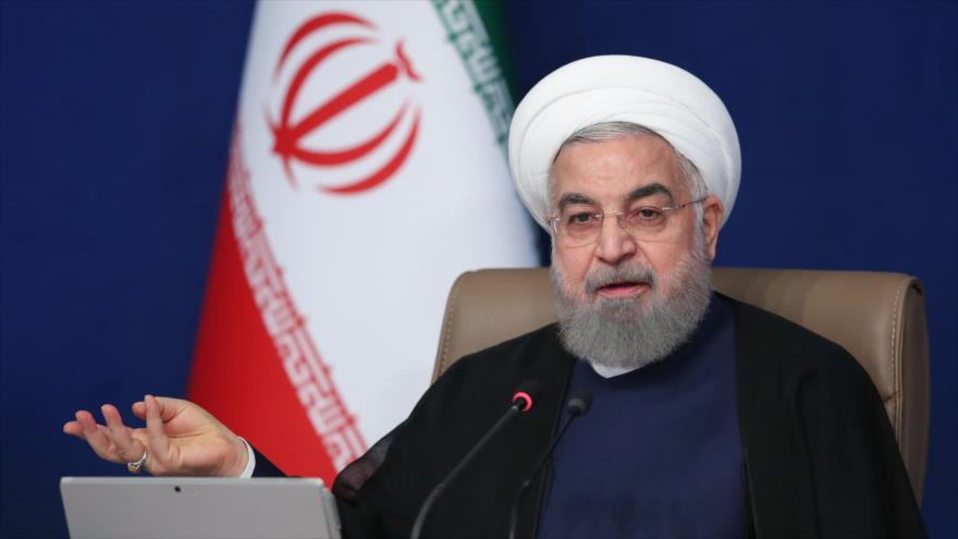 El presidente de Irán, Hasan Rohani, en una reunión con su Gabinete ministerial en Teherán, la capital, 16 de septiembre de 2020. (Foto: President.ir)
