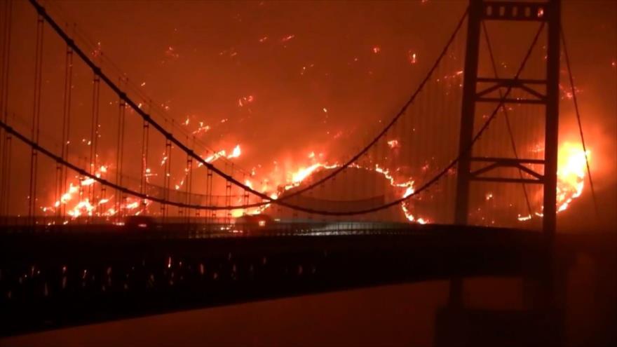California reporta altos índices de contaminación por incendios