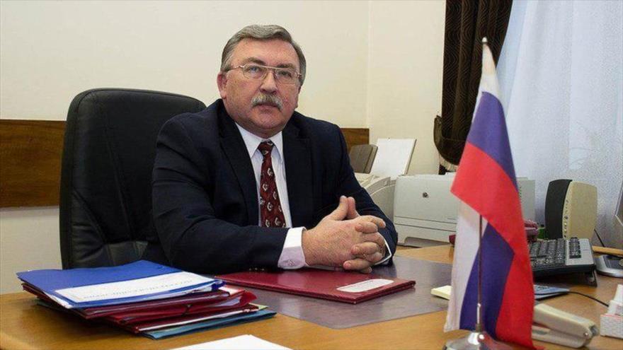 El representante permanente de Rusia ante las organizaciones internacionales radicadas en Viena (Austria), Mijail Ulianov.