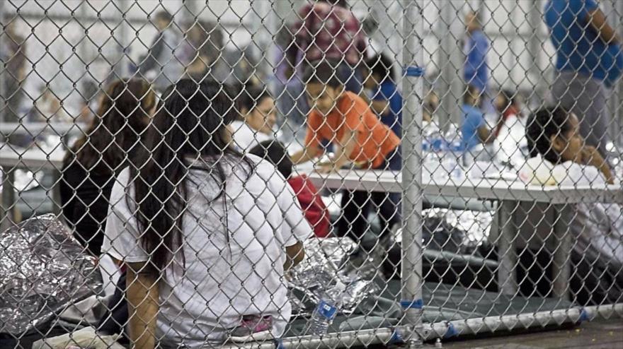 Centro de detención de migrantes en EE.UU. (Fuente: Twitter)