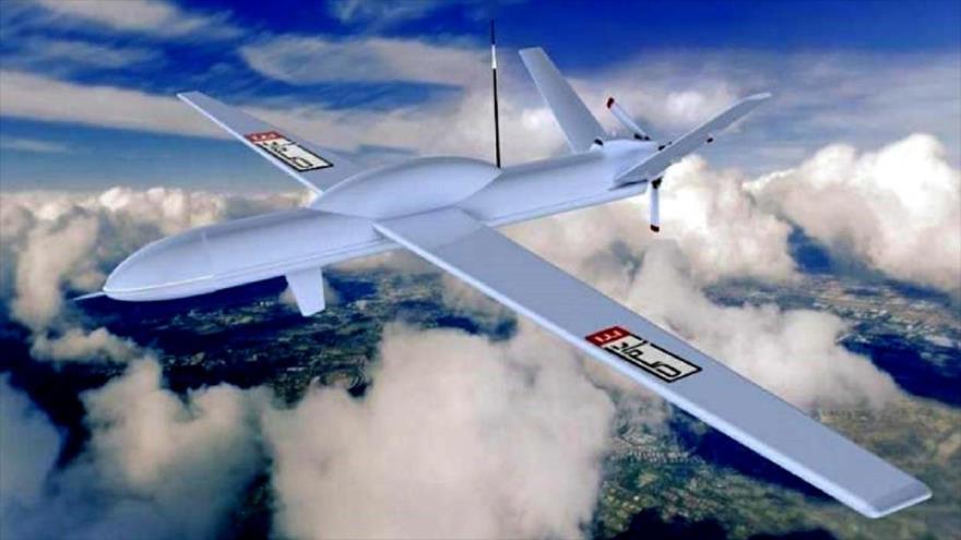 Foto ilustrativa del dron yemení Samad-3