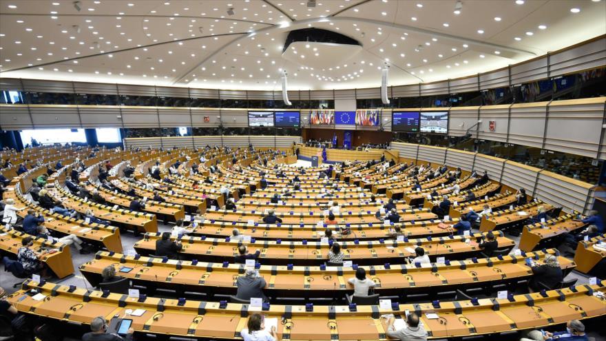 Una sesión plenaria en el Parlamento Europeo (PE) celebrada en Bruselas, la capital belga, el 16 de septiembre de 2020. (Foto: AFP)