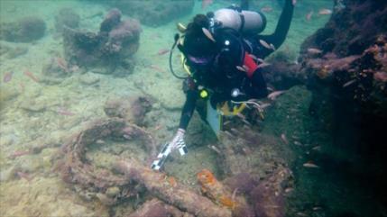 Hallan en México el primer barco traficante de esclavos mayas