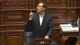 Congreso de Perú rechaza moción de vacancia contra Martín Vizcarra