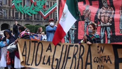 Mexicanos exigen el fin del hostigamiento a los pueblos indígenas