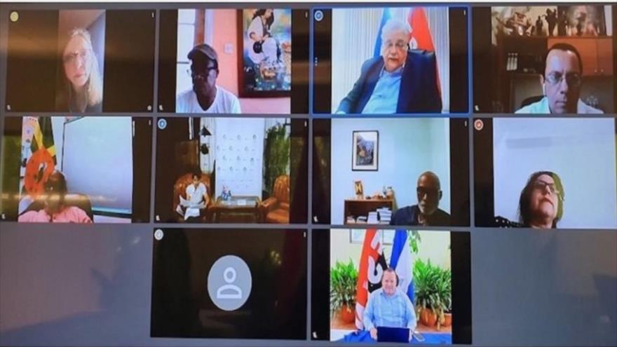 La reunión virtual del ALBA-TCP, 19 de septiembre de 2020.