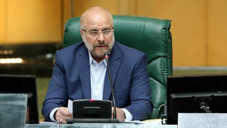 El presidente de la Asamblea Consultiva Islámica de Irán (Mayles), Mohamad Baqer Qalibaf. (Foto: Tasnim)