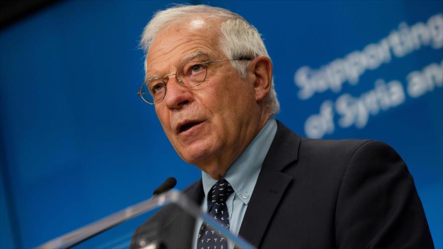 El jefe de la Diplomacia de la Unión Europea (UE), Josep Borrell, en Bruselas, 30 de junio de 2020. (Foto: AFP)