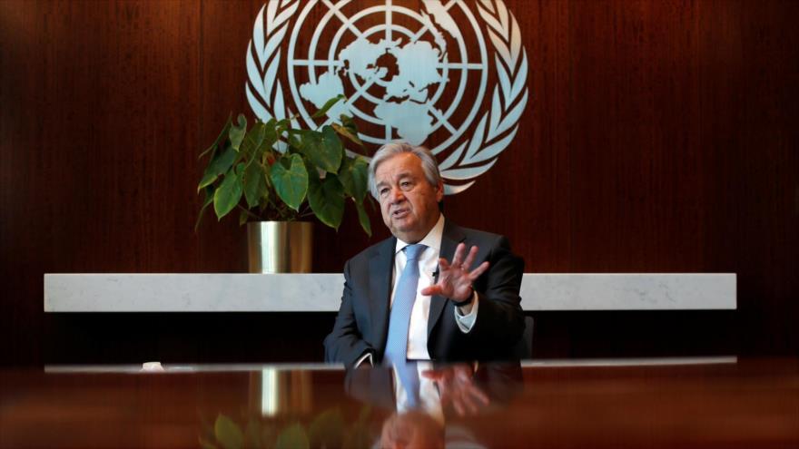 El secretario general de la ONU, António Guterres, durante una entrevista, Nueva York, EE.UU., 14 de septiembre de 2020. (Foto: Reuters)
