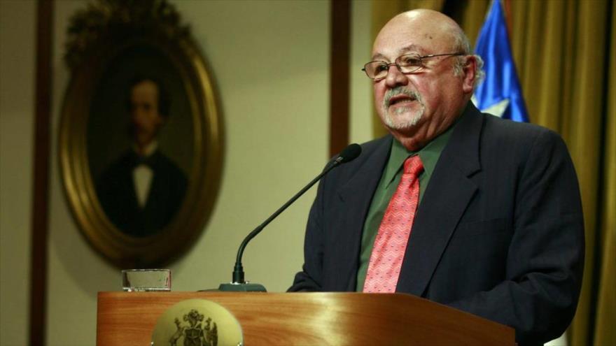 Eduardo Contreras, abogado de los DD.HH. y encargado de relaciones internacionales del partido Comunista (PC) de Chile.