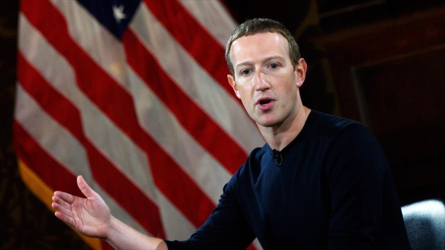 El fundador de Facebook, Mark Zuckerberg, ofrece una charla en la Universidad de Georgetown en Washington, DC., 17 de octubre de 2019. (Foto: AFP)