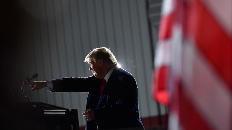 El presidente de EE.UU., Donald Trump, en Swanton, Ohio, 21 de septiembre de 2020. (Foto: AFP)