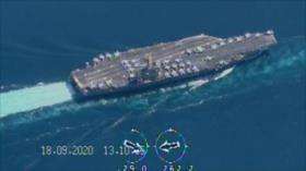 Drones iraníes monitorean portaviones de EEUU en estrecho de Ormuz