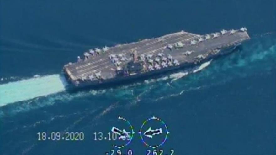Drones iraníes monitorean portaviones de EEUU en estrecho de Ormuz | HISPANTV