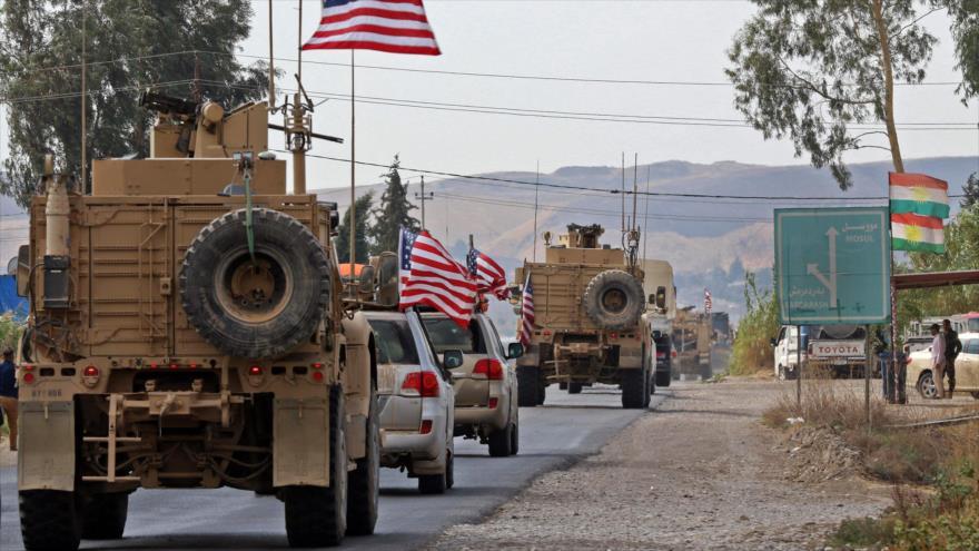 Un convoy militar de EE.UU. en Dohuk, Irak, 21 de octubre de 2019. (Foto: AFP)