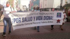 Marchan para exigir la legalización de tierras en Panamá