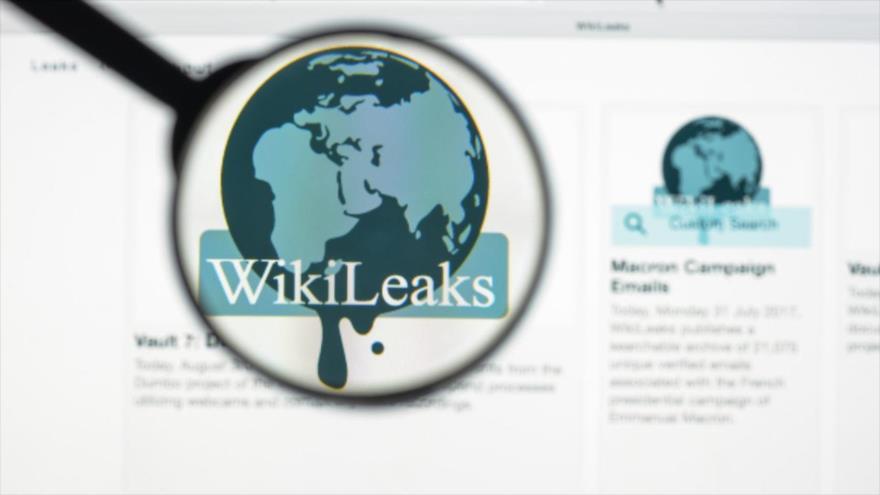 Logo de la página de filtraciones WikiLeaks.