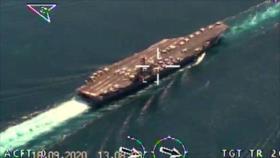 Imágenes inéditas: Drones iraníes monitorean un portaviones de EEUU