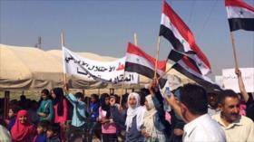 Sirios condenan sanciones, así como la ocupación de EEUU y Turquía