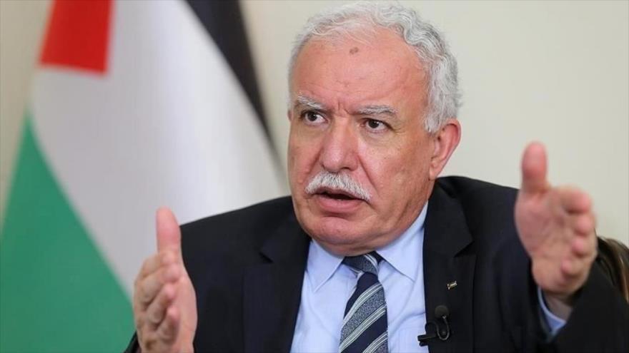 El canciller palestino, Riad al-Maliki.