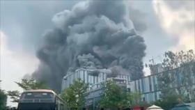Incendio masivo en un centro de investigación de Huawei en China