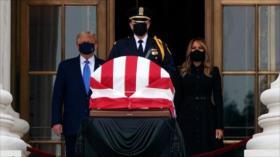 Vídeo: Abuchean a Trump en velatorio de la jueza Ginsburg