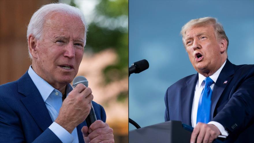El candidato demócrata a las elecciones de EE.UU., Joe Biden (izda.), y el presidente de EE.UU., Donald Trump. (Foto: AFP)