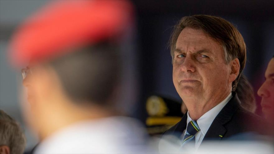 El presidente brasileño, Jair Bolsonaro, asiste a una ceremonia en Río de Janeiro, Brasil, 6 de mayo de 2019. (Foto: AFP)