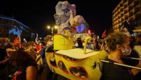 Miles de israelíes se manifiestan para exigir renuncia de Netanyahu